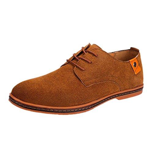 Zapatos Hombre Oxford Cuero Derby Vestir Cordones Boda Ante Punta Casual Negocios Moda Invierno Casuales Formales Calzado Azul Negro Marron Rojo 38-48