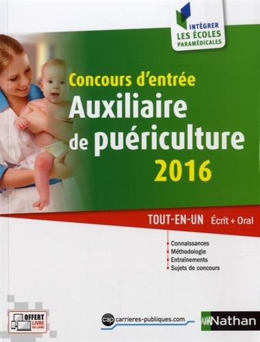Concours d'entre auxiliaire de puriculture 2016