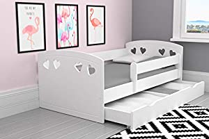 Cute Bed for Girls | Toddler Bed Children's Single Bed with Mattress and Storage Included | Perfect for Girls | Eco Paints Used | Maximum Safety | Up to 140 KG!