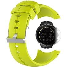 SUUNTO SPARTAN Ultra /HR Bande avec écran protecteur, TUSITA bracelet en silicone de remplacement pour SUUNTO