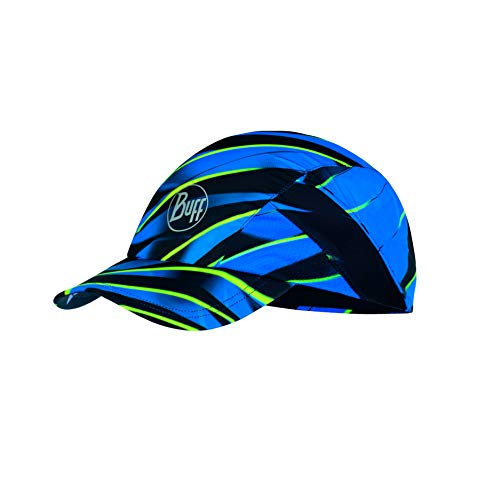 Buff Erwachsene Pro Run Patterned Cap, R-Focus Blue, One Size Polyester Pro Mesh Cap