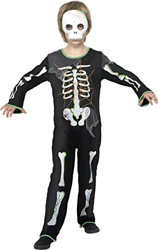 en Spinnen-Skelett Kostüm, Bodysuit und Maske, Größe: M, 35672 (Skelett-kostüme Für Jungen)