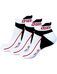 Ogeenier 3P Hombre Calcetines Deporte Calcetines Correr Fondo Más Grueso Low Cut Socks Performance Algodón Calcetines