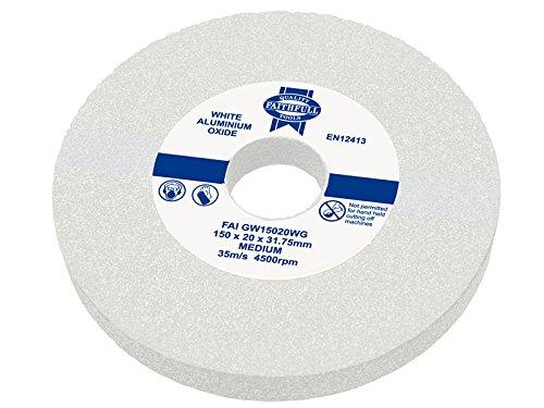 Faithfull 200 x 25mm Medium General Purpose Grinding Wheel - White Test