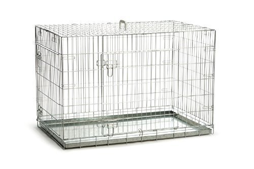 Artikelbild: Riesige Gitterbox Hundebox 2 Türen verzinkt klappbar 109x69x75 cm Transportbox Hunde Zwinger