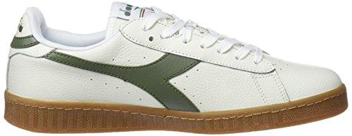 Diadora Game L Low, Chaussures de Gymnastique Homme Blanc Cassé (Bianco Verde Olivina)