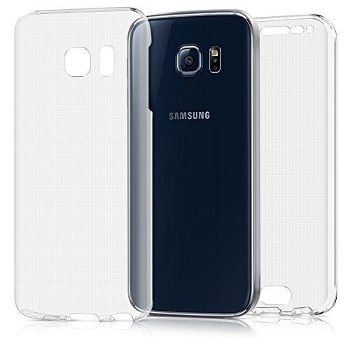 Kwmobile samsung galaxy s6 edge cover - custodia in silicone tpu fronte retro - front back case protezione cristallina per samsung galaxy s6 edge