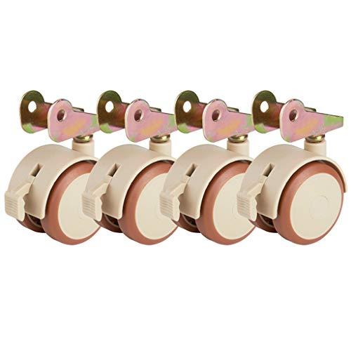 Flip-räder (4 * Universal-Laufrollenschienenradkrippe Flip-Rad StummschubladenzubehöR)