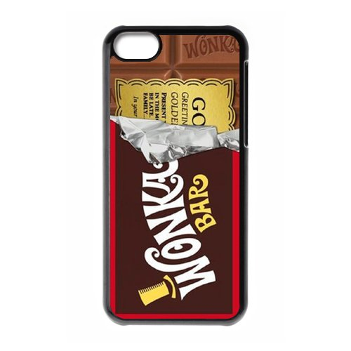 Willy Wonka Golden Ticket Chocolate Bar Unique for Apple iPhone 5C Cheap Durable Hard Plastic Case Cover