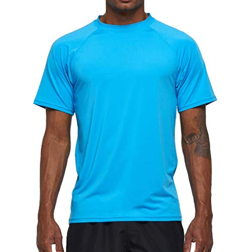 Arcweg Camiseta Hombres Mangas Cortas Rash Guard Protección