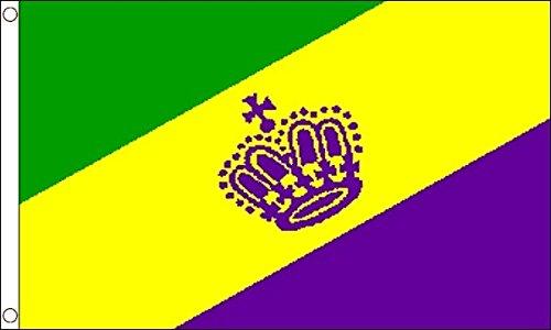 Flag Wholesaler Mardi Gras Flagge, Mehrfarbig, Large
