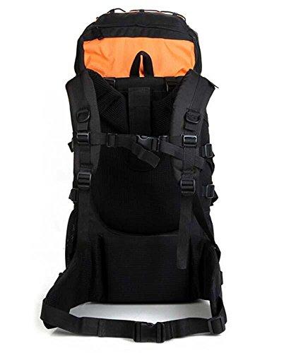 Sport all'aria aperta arrampicata viaggio zaino zaino escursionismo confezioni borse per uomini e donne 65L , dark blue Orange