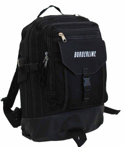 Borderline, Herren Unisex-Erwachsene Damen Daypack schwarz Black Trim S -
