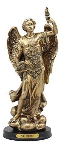 22,2cm hoch katholischen Kirche Saint Erzengel Uriel mit Holy Spirit Taschenlampe Deko Figur