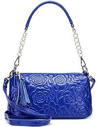 d0782cc0badc6 Honneury Designer Echtes Leder Handtasche Frauen Tasche Floral Geprägte  Umhängetasche