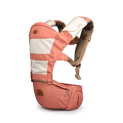 Tofern 5 Position vorne hinten Babysicherheitsträger Babytragetuch Säuglingskomfort hipseat - pink