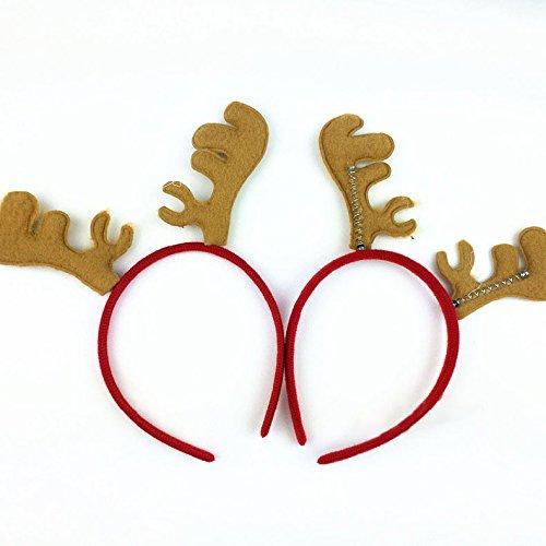 Bluelover Weihnachts-Headband Reindeer Antlers Ear Hair Hoop Weihnachtsfeier Hair Accessoires Deer Hair Buckle Dekoration - Kaffee
