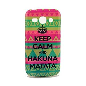 Keep Calm and Hakuna Matata Tribal Pattern TPU Soft Back Cover Case for Samsung Galaxy Ace 3 S7272