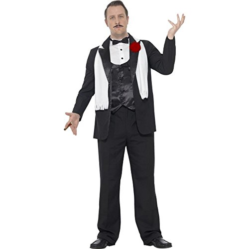 Herren Kostüm Mafia Boss Gangster Karneval Fasching Gr.L (Herren Mafia Boss Kostüm)