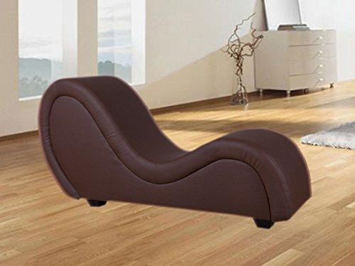 Sex Sofa Erotik Couch Gamer Sessel Kamasutra Liege Love Toy (dunkelbraun, Lederimitat) (Erotik Couch)