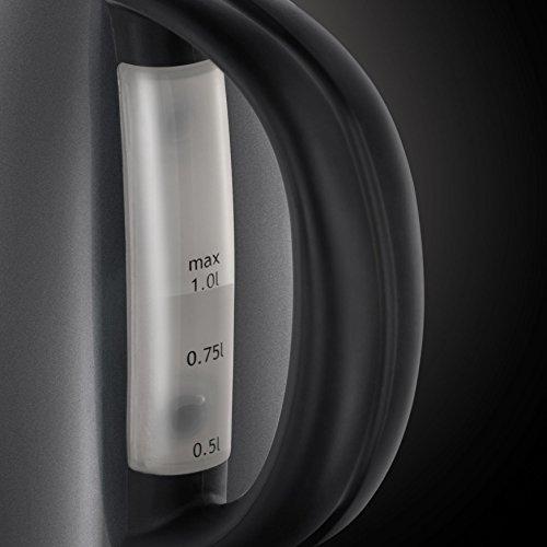 Russell Hobbs 20192-70 Colours Storm Grey Kompakt-Wasserkocher (2200 Watt, 1 l, Sicherheitsdeckel, kabellos) grau - 3