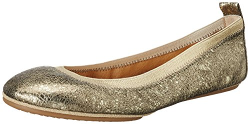41wCa9r0xpL - Yosi Samra Damen Samara Muted Metal Flat 2.0 W Geschlossene Ballerinas, Gold (Gold), 38 EU