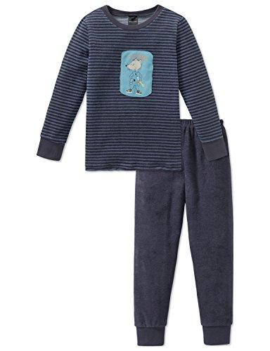 Schiesser Jungen Zweiteiliger Schlafanzug Rat Henry Kn Anzug lang, (Grau 200), 140
