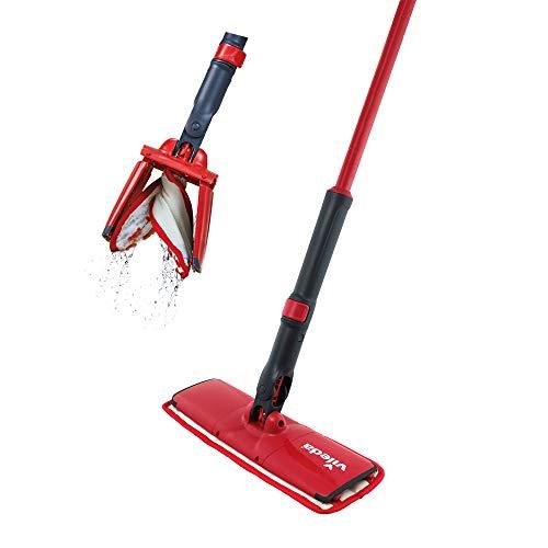 Vileda Easy Twist Sistema Lavapavimenti, Lava Pavimenti Casa, Autostrizzante, PVC, Panno in Microfibra, Rosso, 8 x 14 x 54 cm