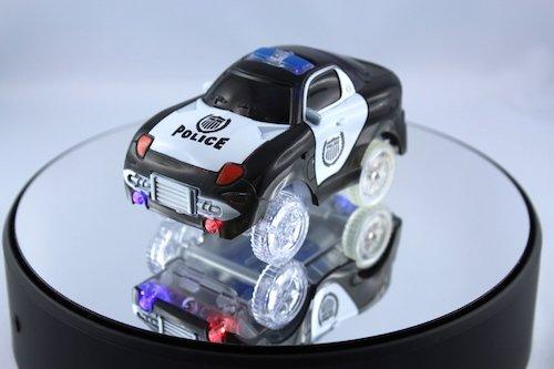 Preisvergleich Produktbild Beleuchteter Schwarzer Police Rennwagen Auto passend fùr Rennbahn Twister Tracks