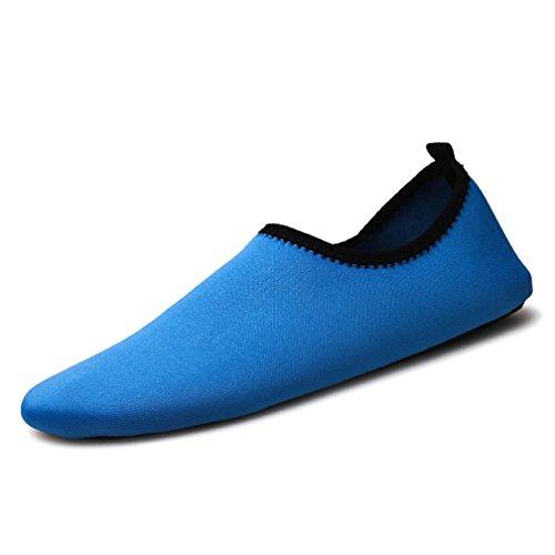 FeiliandaJJ Jungen Mädchen Schuhe Sport Yoga Surf Beach Schnorchel Socken Schwimmen Tauchen Kind Schwimmen Schuhe (EU:26-27, Blau)