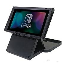 Nintendo Switch Soporte PlayStand, Chickwin Negro altura ajustable plegable Stand Soporte de ángulo múltiple para Nintendo Switch