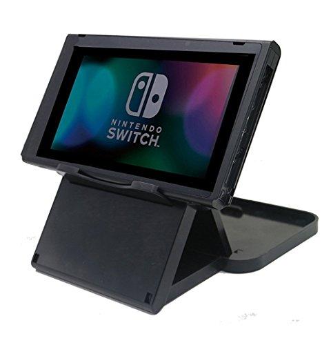 Nintendo Switch Ständer - Chickwin Schwarz Höhe Stable Faltbarer PlayStand Multi Angle Stand für Nintendo Switch