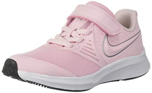 Nike Unisex-Kinder Star Runner 2 (PSV) Sneaker, Pink (Pink Foam/Metallic Silver-Violet 601), 34 EU