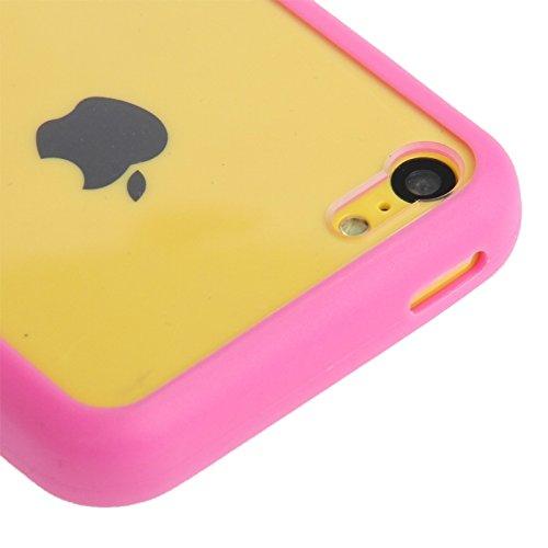 Wkae Case Cover Transparente Plastik + TPU Rahmen für das iPhone 5C ( Color : Blue ) Magenta