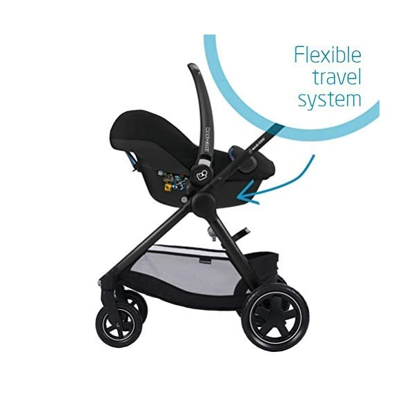 Maxi-Cosi Adorra Comfortable Urban Pushchair from Birth, Full Reclining Seat, 0 Months - 3.5 Years, 0 - 15 kg, Marble Plum with Rock Baby Car Seat Group 0+, ISOFIX, i-Size Car Seat, Rearward-Facing, 0-12 m, Nomad Black, 0-13 kg Maxi-Cosi Cocooning seat - the luxury of a large padded seat for baby Lightweight - a light stroller less than 12kg that makes walking effortless Baby car seat, suitable from birth to 13 kg (birth to 12 months) 6