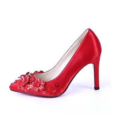 Moda Donna Sandali Sexy donna tacchi rientrano altri materiali personalizzati Wedding Stiletto Heel Crystal Red a piedi Red
