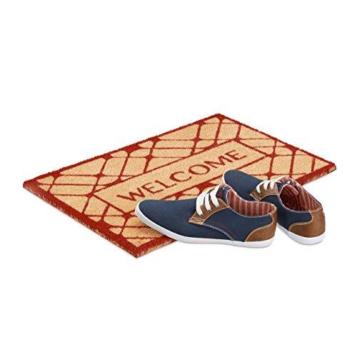 Fußmatte Kokosmatte Kokos Wendematte Herz natur 60x80x2,5 cm