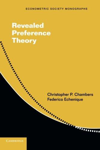 Revealed Preference Theory (Econometric Society Monographs)