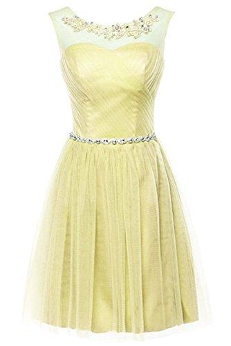 CoutureBridal® Kleid Kurzes Damen Schickes Kleid Brautjungfer 2016 Neue Cocktailkleider Partykleider Gelb