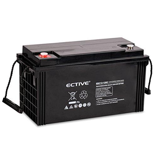 ECTIVE Bleiakku 12V 132Ah Zyklenfeste AGM Batterie Blei Akku EBC-Serie 13 Varianten: 25Ah - 280Ah (wartungsfrei)