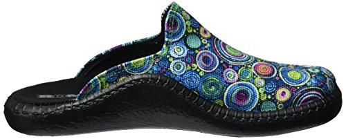ROMIKA Mokasso 126, chaussons d'intérieur femme Mehrfarbig (aqua-multi)