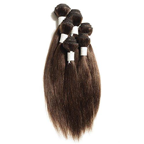 Kappsägen auch Omga Echthaar Extensions brasilianisches glattes Haar 6pcs/set 200g/set 10,2x 20,3cm 2,5x 25,4cm 2,5x 30,5cm