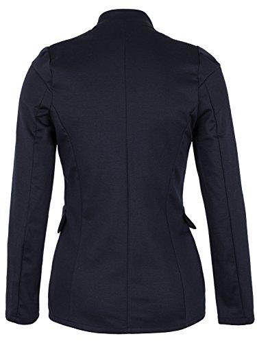 Danaest - Veste de tailleur - Blouson - Uni - Manches Longues - Femme bleu foncé