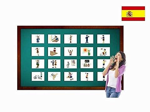 Bildkarten zur Sprachförderung in Spanisch - Gefühle - Tarjetas de vocabulario - Sentimientos