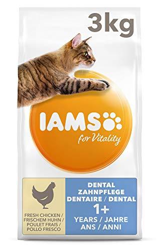 IAMS for Vitality Adult Katzenfutter trocken Dental mit frischem Huhn - Katzenfutter Iams