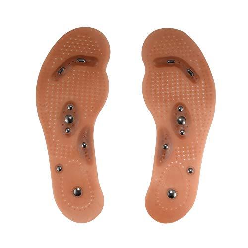 Magnetfeldtherapie Massage-Einlegesohlen-Fußakupressur Schuh-Auflagen fördern Blutungs Fatigue Gesundheits-Therapie Massage-Einlegesohlen 1 Paar for Männer Frauen tägliche Notwendigkeiten Entlasten Ha