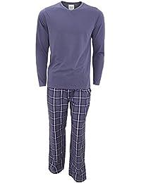 Wolfe & Harte - Conjunto pijama de manga larga hombre caballero