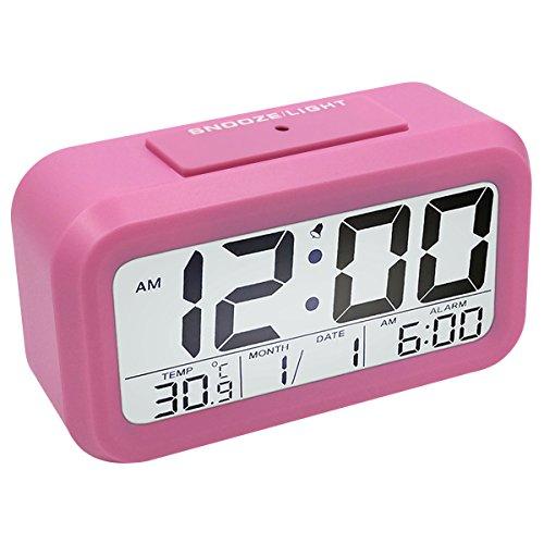 Digitale Wecker Reisewecker, EASEHOME Digital Wecker LCD Alarm Clock Batterie Digitalwecker mit Snooze und Nachtlicht Funktion Kinderwecker...
