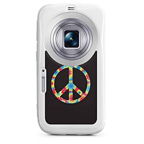 DeinDesign Samsung Galaxy K Zoom Hülle Silikon Case Schutz Cover Peace Hippie Bunt