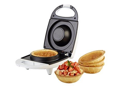 KORONA 41010 Waffelcup-Maker Weiß für Waffelcups mit 10 cm Durchmesser-Waffeleisen für Cup Waffeln-Waffel Toaster, 15.5 x 22 x 9.5 cm
